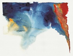 Abstract blue watercolor : high resolution