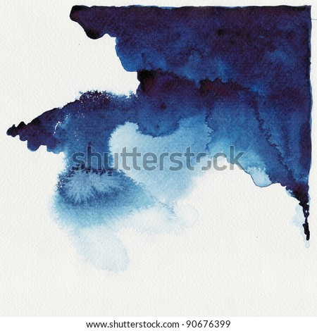 Abstract blue watercolor high resolution