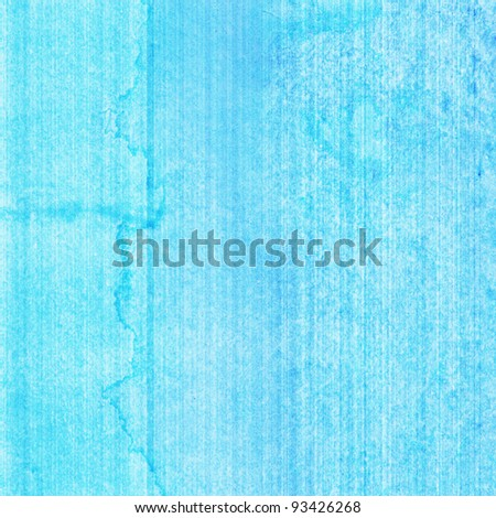 Abstract blue watercolor on paper background
