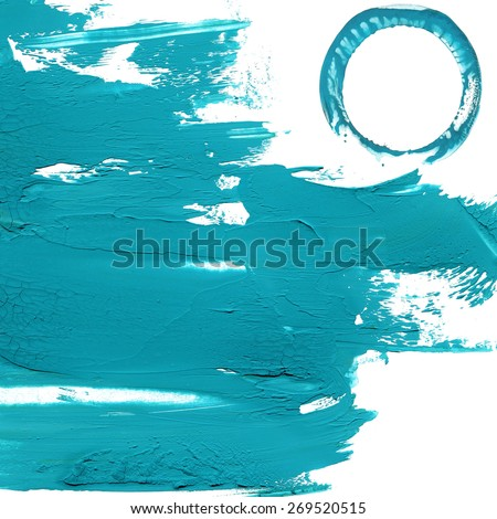Abstract blue wave background. brush, acrylic