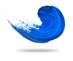 Abstract blue wave brush stroke