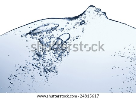 Abstract blue wave, fantastic background, splash water, motion blur