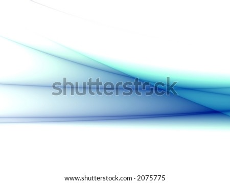 Abstract blue waves isolated on white