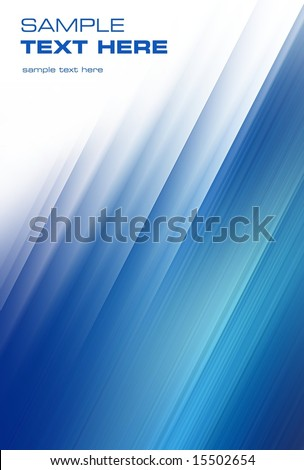 abstract blue wind (easy to remove the text) - stock photo