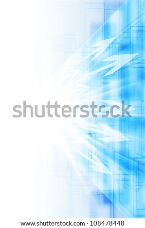 Abstract blue with arrow technology background