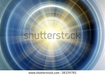 Abstract blue - yellow shine background