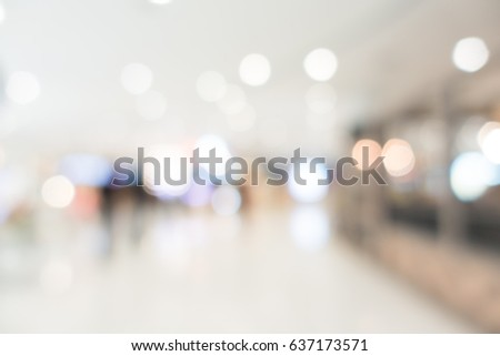 Abstract blur and bokeh shopping mall and retails store interior for background #637173571