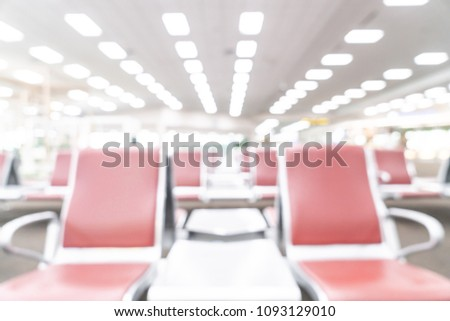 abstract blur and defocus in airport for background #1093129010