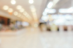 Abstract blur and defocus shopping mall in department store interior for background