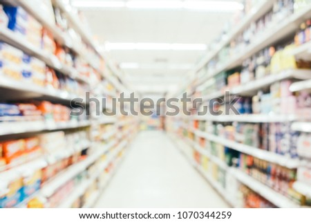 Abstract blur and defocused shopping mall in department store for background