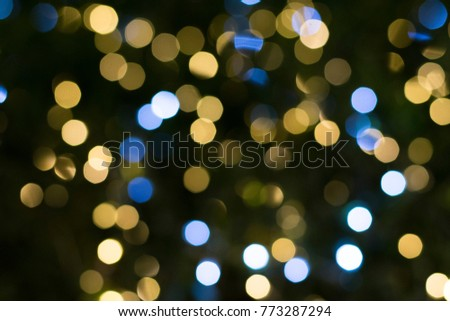 abstract blur background decorating sparkle light beautifully bokeh of street light at christmas night