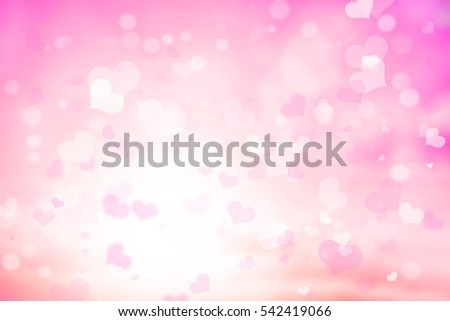 Shutterstock Abstract blur background. pink pastel heart love bokeh valentine's day happy concept; white sparkling rays group soft focus lens view card elements; Glowing corazones light gradient dark wallpaper.