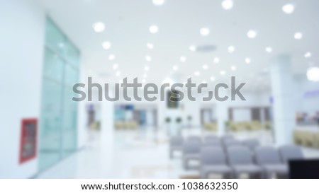 Abstract blur beautiful hall of hospital for background