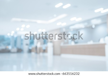 Abstract blur beautiful luxury hospital  interior for backgrounds