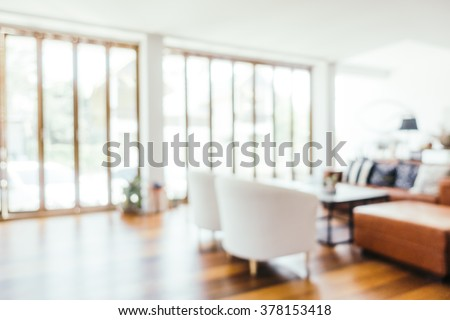 Abstract blur beautiful luxury living room interior for background - Vintage Light Filter