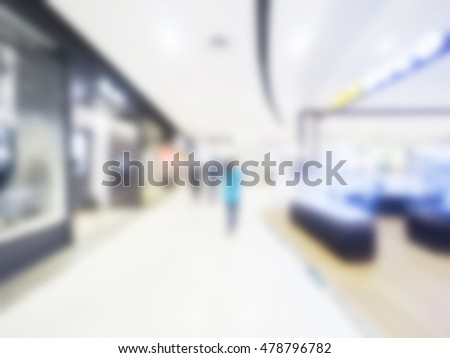 Abstract blur beautiful luxury shopping mall interior and retail store for background