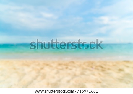 Abstract blur beautiful tropical beach and sea landscape for background