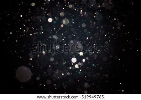 Abstract blur black bokeh background stock photo