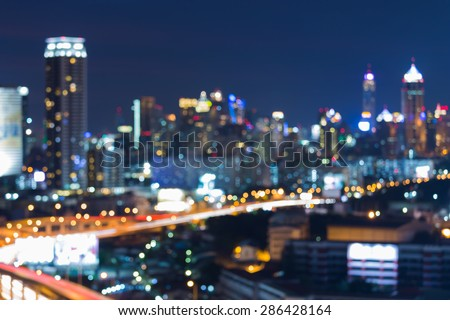 Abstract blur bokeh city night lights