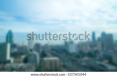 Abstract blur city #337341044