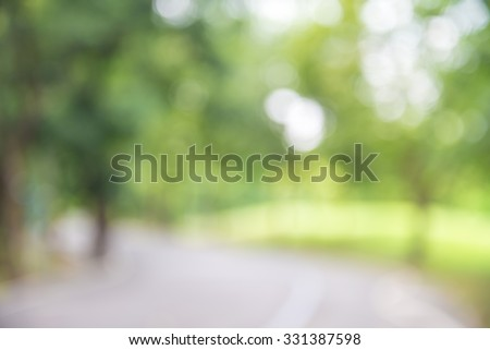 Stock Photo Abstract blur city park bokeh background