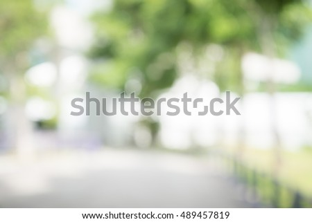 Abstract blur city park bokeh background