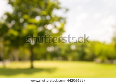 Abstract blur city park with warm lighting background - Shutterstock ID 442066837
