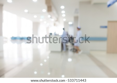 Abstract blur clinic or hospital interior for background