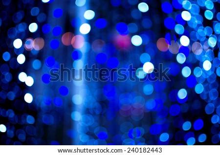 Abstract  blur De focussed  background black, soft focus / De focussed blue and white bokeh twinkling lights background / De focused colorful bokeh twinkling lights background (blur, bokeh, decor)
