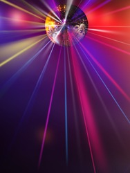abstract blur disco light ball  for party background