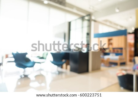 Abstract blur furniture shop and store interior for background #600223751