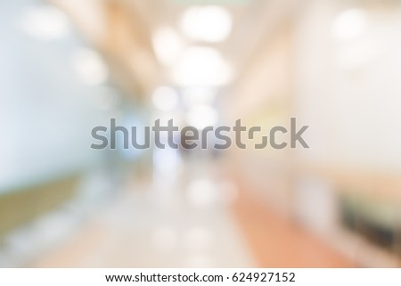 Abstract Blur hospital and clinic interior for background #624927152