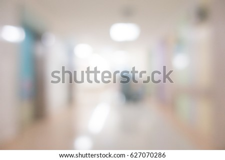 Abstract Blur hospital and clinic interior for background #627070286