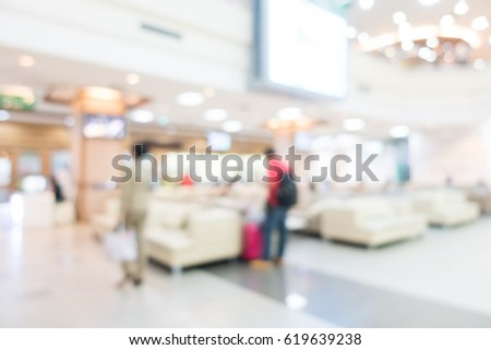 Abstract blur hospital and medical clinic interior for background