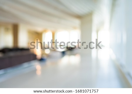 Abstract blur hotel and lobby interior for background Foto stock ©