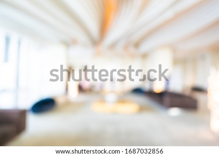 Abstract blur hotel and lobby interior for background