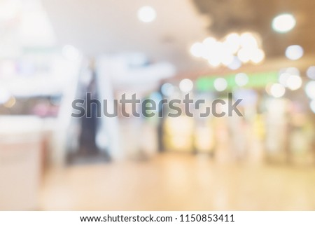 abstract blur image background of mall department store #1150853411