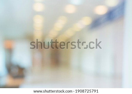 abstract blur image background of shopping mall with light bokeh and flare light bulb Foto stock ©