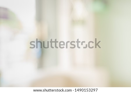 Abstract blur image of bright and clean Window and door in modern office building on day time for background usage.