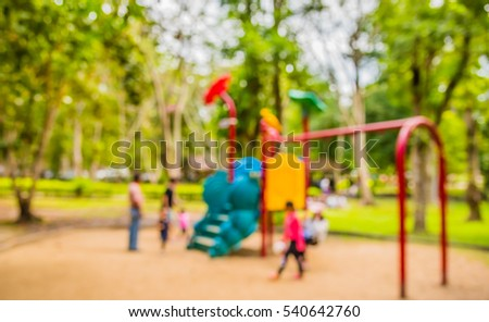 abstract blur image of children'...