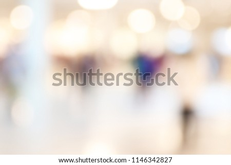 Abstract blur image of Shopping mall with bokeh for background usage #1146342827