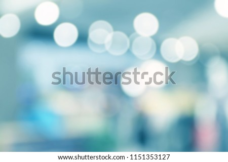 Abstract blur image of Shopping mall with bokeh for background usage #1151353127