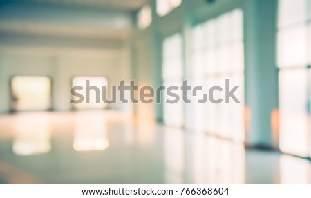 Abstract blur image of Window , Door and corridor with bokeh  for background usage. (vintage tone)