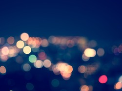 abstract blur light  bokeh background,vintage tone