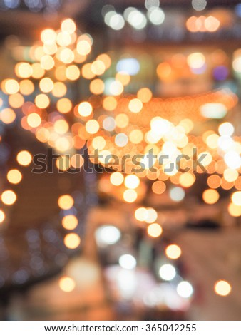Abstract blur light decoration background at night #365042255