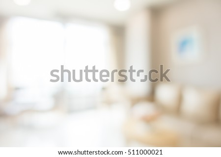 Abstract blur living room area interior for background #511000021