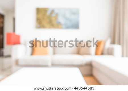 Abstract blur living room interior for background #443544583