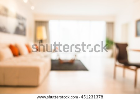 Abstract blur living room interior for background #451231378