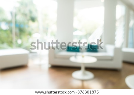 Abstract blur livingroom decoration interior for background #376301875