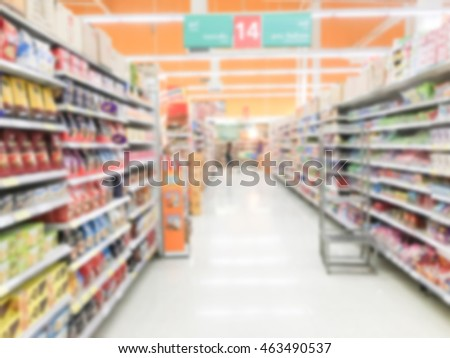 Abstract blur luxury retail and shopping mall interior for background